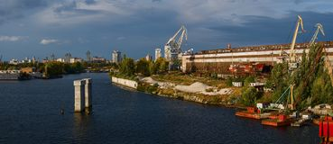 Distrito industrial cênico de Kiev Foto de Stock