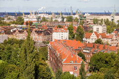 Distrito industrial em Gdansk Imagem de Stock
