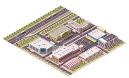 Distrito isométrico de las compras del vector ilustración del vector
