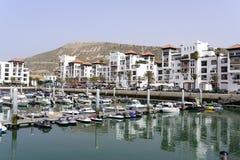 Distrito lujoso del puerto deportivo Fotografía de archivo