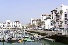 Distrito lujoso del puerto deportivo Fotografía de archivo libre de regalías
