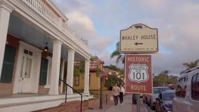 Distrito mexicano en San Diego Old Town - SAN DIEGO, los E.E.U.U. - 1 DE ABRIL DE 2019 almacen de metraje de vídeo