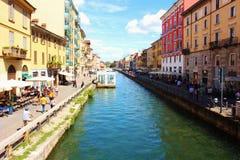 Distrito Milán de Navigli Fotografía de archivo