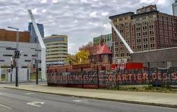 Distrito Montreal do entretenimento Fotografia de Stock Royalty Free
