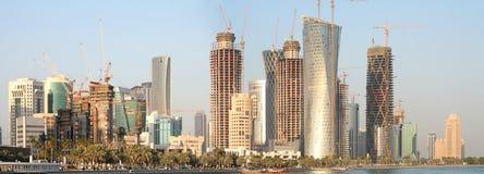 Distrito novo de Doha, dezembro 2008 imagem de stock