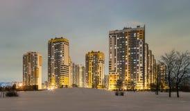 Distrito novo de Frunzensky do microdistrict Imagem de Stock Royalty Free