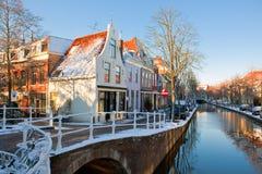 Distrito residencial de Delft Fotografia de Stock Royalty Free