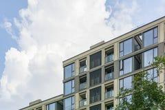 Distrito residencial de primeira qualidade foto de stock