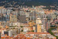 Distrito residencial densamente povoado de Mônaco imagem de stock