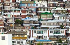 Distrito residencial en Seul Foto de archivo libre de regalías