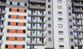 Distrito residencial que consiste em grandes blocos de planos foto de stock