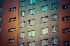 Distrito residencial que consiste em grandes blocos de planos imagens de stock