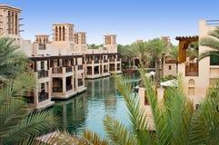 Distrito turístico de Madinat Jumeirah Fotografía de archivo libre de regalías
