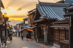 Distrito velho da cidade de Kyoto Japão imagem de stock