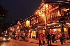 Distrito velho em Chengdu China Fotos de Stock Royalty Free
