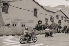 Distrito viejo de la ciudad en Phuket Fotografía de archivo