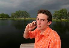 Distrustful man Stock Photography