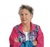 Distrustful Senior Lady Royalty Free Stock Image