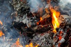 Distrutto nel fervore di fuoco fotografie stock libere da diritti