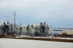 Distruzione del ponte I-70 Fotografia Stock Libera da Diritti