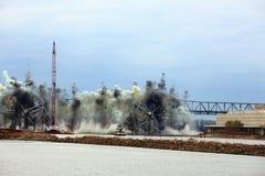 Distruzione del ponte I-70 Fotografie Stock Libere da Diritti