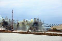 Distruzione del ponte I-70 Immagini Stock