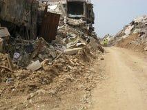Distruzione di Nahr Al Bared Palestinian Camp Fotografia Stock Libera da Diritti