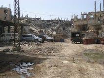 Distruzione di Nahr Al Bared Palestinian Camp Fotografie Stock