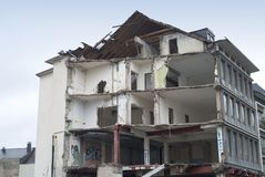 Distruzione di una costruzione Fotografia Stock Libera da Diritti