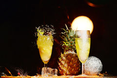 Distruzione di vetro di Champagne Immagine Stock Libera da Diritti