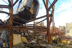 Distruzione massiccia della città Immagini Stock Libere da Diritti