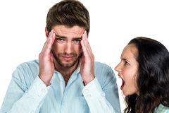 Disturbed couple having argument Royalty Free Stock Images