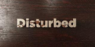 Disturbed - grungy wooden headline on Maple  - 3D rendered royalty free stock image. This image can be used for an online website banner ad or a print postcard Royalty Free Stock Photography
