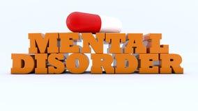 disturbi mentali 3d Fotografie Stock Libere da Diritti