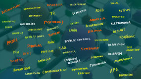 Disturbi psicologici illustrazione vettoriale
