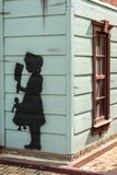 A disturbing draw on a wall. Disturbing draw on a wall in kharkiv Ukraine Royalty Free Stock Images