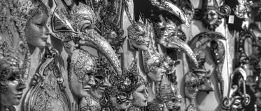 all the beauty of gray masks royalty free stock image