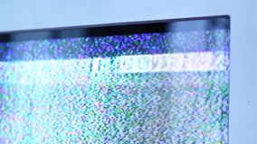 Disturbo della TV stock footage