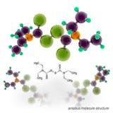 Disulfiram (Antabuse, Anticol, Esperal) molecule structure Royalty Free Stock Image
