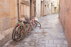 Disused Bikes Royalty Free Stock Photography