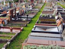 Disused Cemetery. Rows of neglected graves in disused cemetery Royalty Free Stock Photo