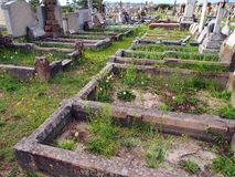 Disused Cemetery. Rows of neglected graves in disused cemetery Royalty Free Stock Image