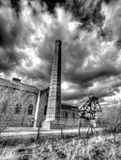 Disused colliery in Pleasley Derbyshire England Stock Photos