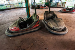 Disused dodgems Royalty Free Stock Image