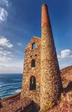 Disused engine house for tin mine, Wheal Coates, Cornwall. The disused Towanroath engine house. Part of the old tin mining industry, which was in use between Stock Photography