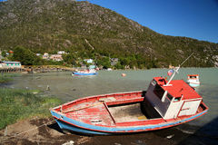 Disused fising boat In Patagonia Stock Photography