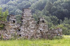 Disused house in the mountain Royalty Free Stock Image