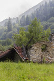 Disused house in the mountain Royalty Free Stock Images