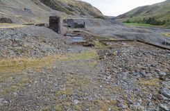Disused lead mining area Cwmystwyth, Wales Stock Photos