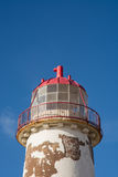 Disused lighthouse. A disused lighthouse in North Wales, photographed against a blue sky Royalty Free Stock Image